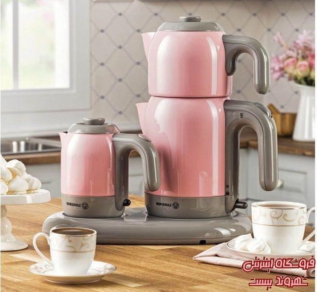 چایساز و قهوه ساز برقی کرکماز مدل میا صورتی